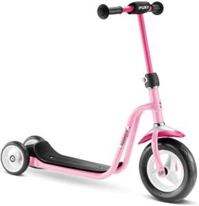 Puky 5172 'R1' Scooter, ab 2 Jahren, höhenverstellbar bis 67 cm, Sicherheitslenkergriffe, Lenkerpolster, max. belastbar bis 20 kg, rose