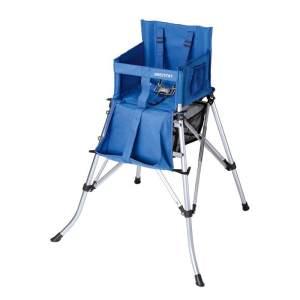 Hochstuhl faltbar mit Tragetasche, 5-Punkt Gurt, Kinderstuhl blau