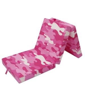Wolkenwunder Klappmatratze, Militäry Pink 190x70x9 cm