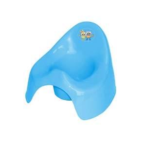 Lorelli Töpfchen aus unbedenklichem Kunststoff, Spritzschutz, leicht zu reinigen blau