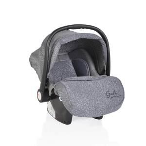Moni Babyschale Gala Premium Gruppe 0+ (0 - 13 kg), Fußabdeckung, Sitzpolster hellgrau