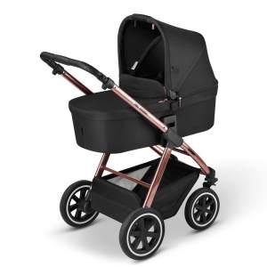 ABC Design 'Samba' Kombikinderwagen 2 in 1 2021 Rose Gold inkl. faltbarer Babywanne, Sportsitz und integriertem Sonnensegel