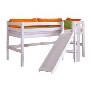 Relita 'Eliyas' Spielbett mit Rutsche weiß
