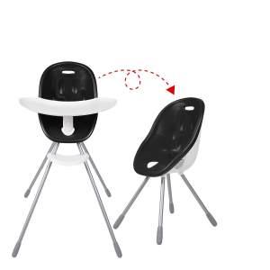 Phil & Teds 'Poppy' Hochstuhl, Black, zu Kinderstuhl umbaubar, inkl. Essbrett und Sicherheitsgurt