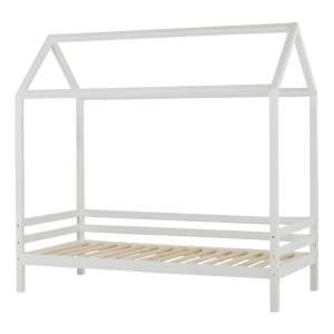 HOPPEKIDS 'Basic' Hausbett 90x200 cm, Weiß, mit Lattenrost