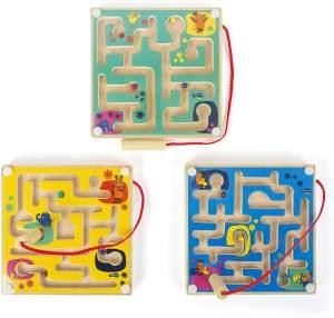 small foot 10815 Sendung Magnetisches Labyrinth im Mini-Format Freunden aus Der Maus, mit befestigtem Stift, fördert Konzentration und Geschicklichkeit