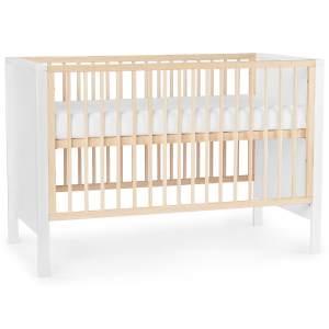 Kinderkraft 'Mia' Babybett 120 x 60 cm, Weiß, mit Matratze, 3-fach höhenverstellbar