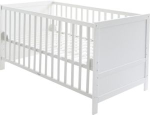 roba 'Lene' Kombi Kinderbett, weiß, 70 x 140 cm, Lattenrost 3-fach höhenverstellbar