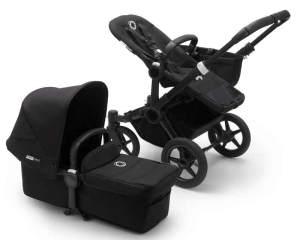 Bugaboo 'Donkey3 Mono' Kinderwagen Set 3 in 1 inkl. Cybex Cloud Z i-Size Babysc. Schwarz / Schwarz / Schwarz Deep Black