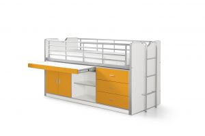 Vipack 'Bonny' Multifunktionsbett weiß/orange
