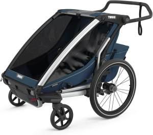 Thule 'Chariot' Fahrradanhänger Set + Thule Fußsack Cross 2 Majolica Blue