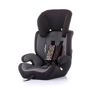 Chipolino Kindersitz Jett Gruppe 1/2/3 (9 - 36 kg), verstellbare Kopfstütze schwarz