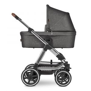 ABC Design 'Viper 4' Kombikinderwagen 3 in 1 Asphalt Diamond Special Edition inkl. Sportsitz, Babywanne, Cybex Cloud Z Babyschale Soho Grey