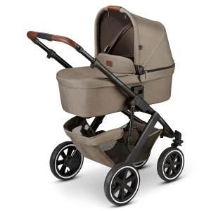 ABC Design 'Salsa 4 Air' Kombikinderwagen 4plusin1 Set M nature inkl. Babyschale khaki green, Wickeltasche, Fußsack und Adapter