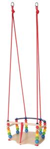 Hess Holzspielzeug 31103 'Gitterschaukel de luxe' ca. 37 x 36 cm, ab 12 Monaten, Holz, mehrfarbig