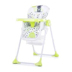 Chipolino Hochstuhl Maxi, Räder höhenverstellbar Tisch abnehmbar Korb faltbar grün