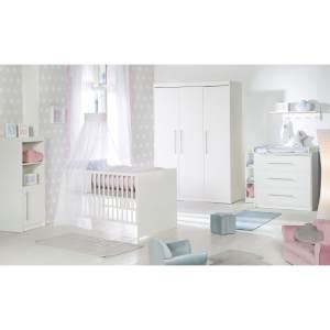 Roba 'Maren' 3-tlg. Babyzimmerset, weiß, aus Babybett 70x140 cm, Wickelkommode und 3-trg. Kleiderschrank