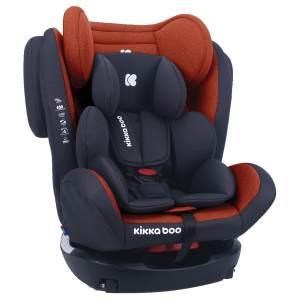 Kikkaboo Kindersitz 4 Fix Double Isofix SPS Gruppe 0+/1/2/3 (0-36kg) verstellbar orange