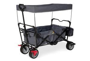 Pinolino 'Paxi dlx Comfort' Klappbollerwagen in Anthrazit, inkl. Feststellbremse, Sonnendach, Hecktasche
