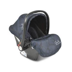 Moni Babyschale Gala Premium Gruppe 0+ (0 - 13 kg), Fußabdeckung, Sitzpolster blau