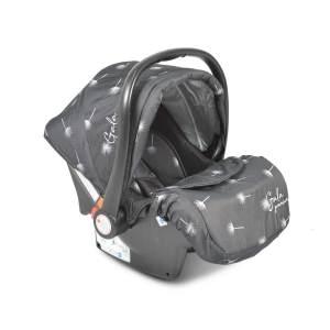 Moni Babyschale Gala Premium Gruppe 0+ (0 - 13 kg), Fußabdeckung, Sitzpolster schwarz