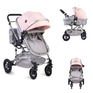Moni Kinderwagen Ciara Tragetasche Sportsitz Wickeltasche faltbar Sitz umkehrbar rosa