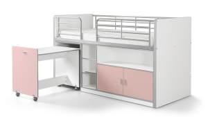 Vipack 'Bonny' Funktionsbett weiß/rosa
