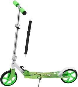 ArtSport 24621 'Cityroller Soccer' Scooter, ab 3 Jahren, 3-fach höhenverstellbar bis 106 cm, klappbar, max. belastbar bis 100 kg, grün