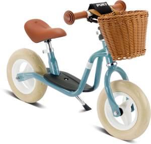 PUKY 4095 'LR M CLASSIC' Laufrad, für Kinder ab 85 cm Körpergröße, bis 25 kg belastbar, höhenverstellbar, inkl. Korb, retro-blau