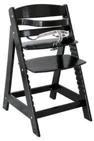 Roba 'Sit Up III' Treppenhochstuhl, schwarz, höhenverstellbar, mit Sicherheitsbügel und Gurtsystem, bis 50 kg belastbar