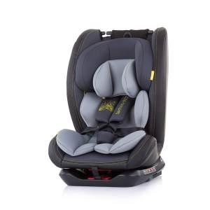 Chipolino Kindersitz Techno Gruppe 0+/1/2/3 (0 - 36 kg) Isofix, 360 Grad drehbar hellgrau