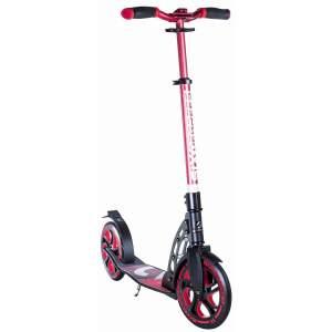 Six Degrees 513 'Aluminium Scooter 230/215 mm' Scooter, ab 6 Jahren, 5-fach höhenverstellbar bis 106 cm, klappbar, max. belastbar bis 100 kg, rot