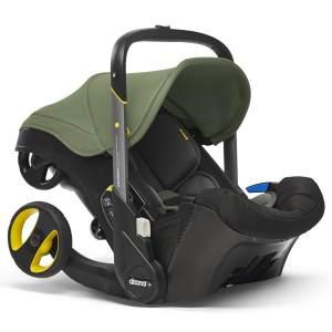Doona Babyschale in Desert Green inkl. voll integriertem Fahrgestell, als Buggy nutzbar