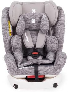 Kikkaboo Kindersitz 4 Fix Double Isofix SPS Gruppe 0+/1/2/3 (0-36kg) verstellbar hellgrau