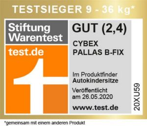 Cybex 'Pallas B-Fix' Kindersitz 2020 Volcano Black Gruppe 1/2/3