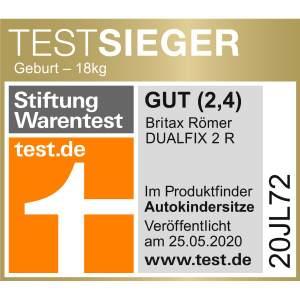 Britax Römer 'DUALFIX 2 R' 2020 Reboarder, Storm Grey, 0-18 kg (Gruppe 0+/1) Isofix