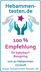 Babybay 'Boxspring' Beistellbett klarlackiert