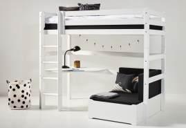 Hoppekids 'Premium' Funktionsbett weiß, inkl. Ausstattung, inkl. Rollrost