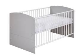 Schardt 'Classic Grey' Kombi-Kinderbett weiß / grau