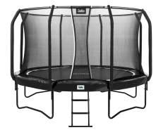 Salta 'First Class' Trampolin, rund, schwarz, 366 cm Durchmesser, ab 5 Jahren, maximal belastbar bis 180 kg, inkl. Leiter und Sicherheitsnetz