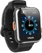 """Vtech 'Kidizoom Smart Watch DX2', ab 5 Jahren, LCD Farb-Touchdisplay (1,41"""", 128 x 128 Pixel), inkl. vielen lustigen Uhrmotiven zum Wechseln und aufregenden Bewegungsspielen, schwarz"""