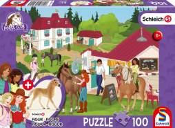 Schmidt Spiele Puzzle 'Auf dem Reiterhof', Schleich Horse Club 13814 Haflinger Fohlen