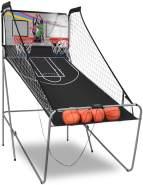 COSTWAY 'Doppelspiel Basketball Automat Basketballkorb Basketballständer Basketballspiel', Spiel für bis 4 Spieler, inkl. 4 Basketbällen, 1 Basketball Luftpumpe, 2 Basketballkörbe & Netz, LCD Anzeige und 2 Sensoren
