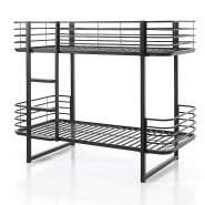 Vipack 'Oscar' Etagenbett 90x200 cm, schwarz, Metall