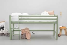 Hoppekids Basic Holbhohes Bett, Kiefer massiv, 208 x 101 x 105 cm