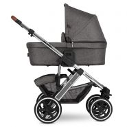 ABC Design 'Salsa 4 Air' Kombikinderwagen 3 in 1 Asphalt Diamond Edition inkl. Sportsitz, Babywanne, Cybex Aton 5 Babyschale Soho Grey
