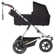 Mountain Buggy 'Urban Jungle 3' Kombikinderwagen Black mit Babyschale in Soho Grey