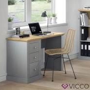 Vicco 'Cambridge' Schreibtisch, Grau, mit 3 Schubladen
