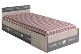 PARISOT 'Fabric' Einzelbett mit Schubladen