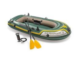 Intex 'Seahawk 2' Schlauchboot, Set inklusive 2x Paddel und Handpumpe, geeignet für zwei Personen, bis 240 kg belasbar